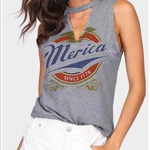 Merica tank top women's